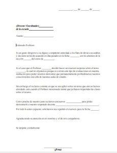 Formato de Carta de Queja de un Profesor