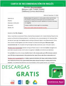 Formato de Carta de Recomendación en Inglés