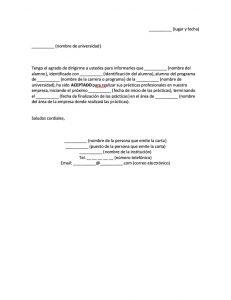 Formato Carta de Aceptación de Prácticas