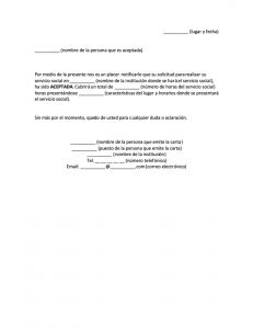 Carta de Aceptación de Servicio Social