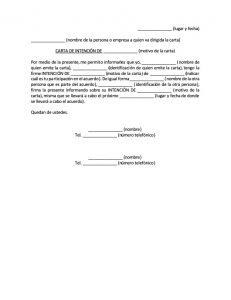Formato de Carta de Intención