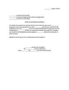 Carta de Intención Académica