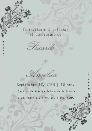 Plantilla para Invitaciones de Boda