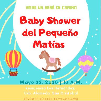 Plantilla para Invitación de Baby Shower Niño - Canva- Imprimir Gratis