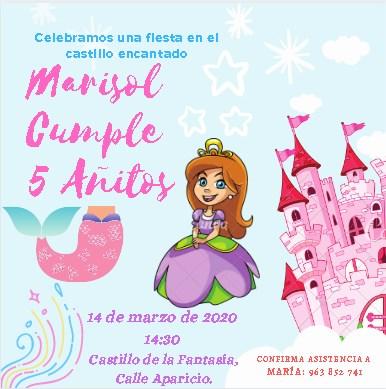 Plantilla para Invitación Infantil Niña - Canva - Editable Gratis