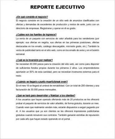 EJEMPLO DE REPORTE EJECUTIVO