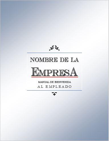 FORMATO MANUAL DE BIENVENIDA