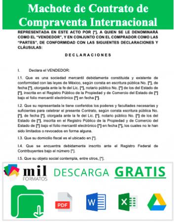 Formato de Contrato de compraventa internacional