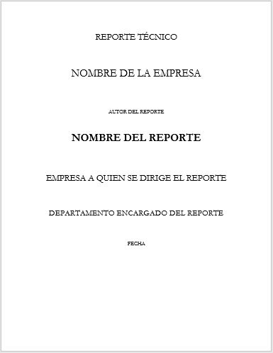 Formato de Reporte técnico