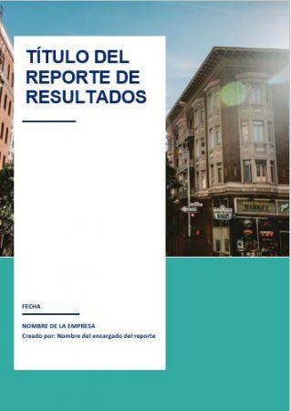 Formato reporte de resultados