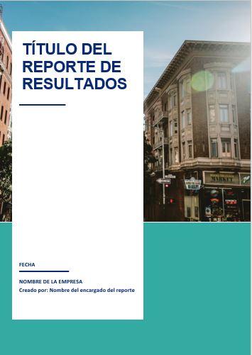 Formato de Reporte de resultados