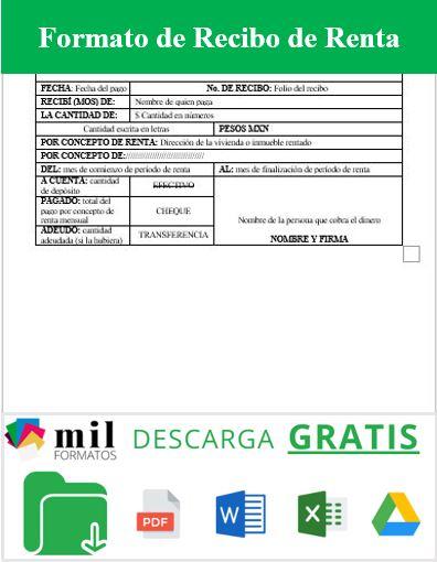 Recibo De Pago Ejemplos Y Formatos Excel Word Y Pdfs Descarga Gratis
