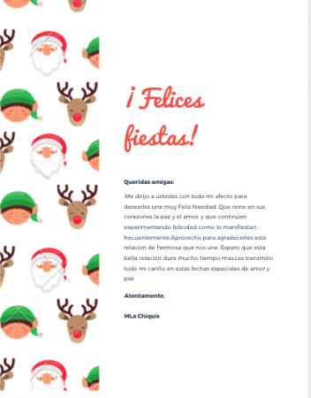 Carta decorada Canva