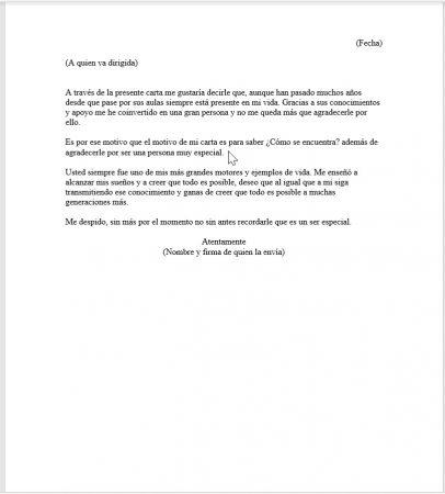 Formato de Carta para una maestra especial 1