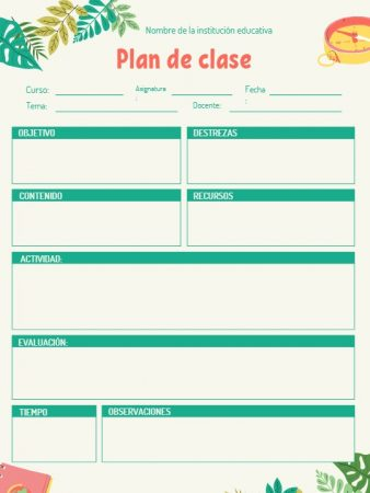 Formato de plan de clase educación física