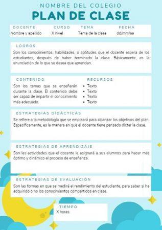Formato de plan de clase preescolar canva_opt