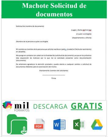 Formato de Solicitud de Documentos