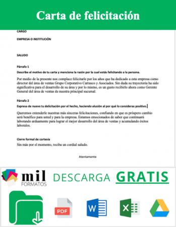 Carta de felicitación