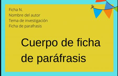 Ficha de parafrasis