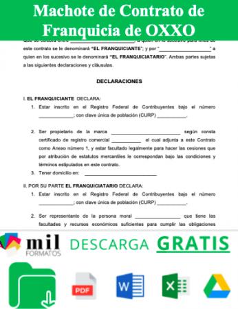 Formato de Contrato de Franquicia OXXO