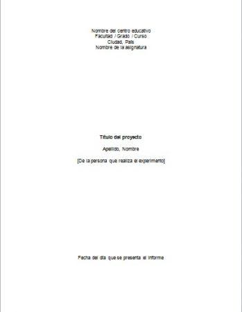 Formato de proyecto de ciencias