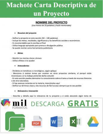 Carta Descriptiva de un Proyecto