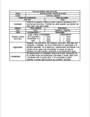 Formato de Ficha de análisis