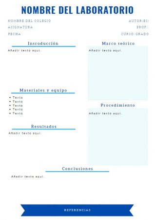 Formato de Reporte de laboratorio Canva