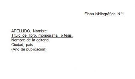 Formato de ficha bibliográfica Word