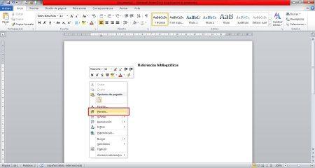 Cómo hacer una referencia bibliográfica - Paso 2