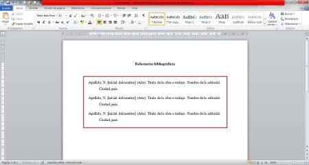 Cómo hacer una referencia bibliográfica - Paso 3