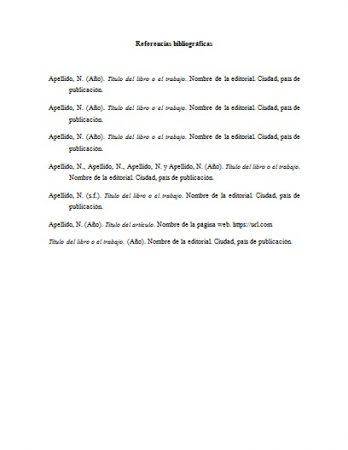Formato de referencia bibliográfica