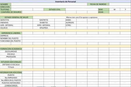 Inventario de personal