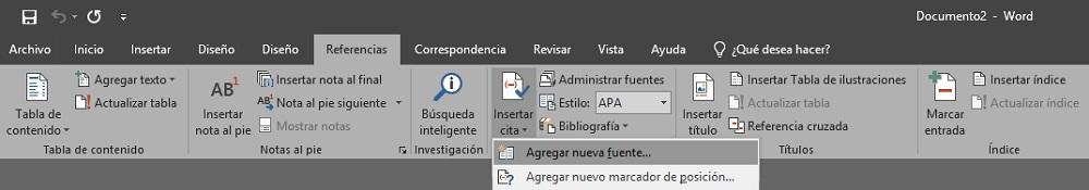 Como aplicar APA en Word