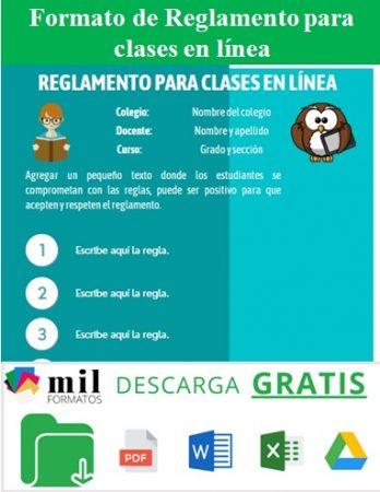 Formato de Reglamento para clases en línea