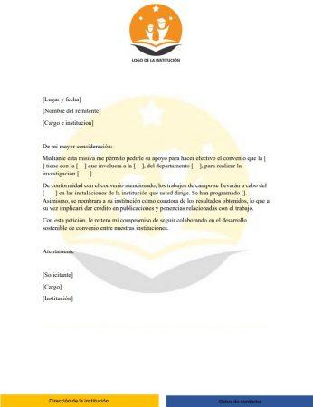 Ejemplo de carta institucional
