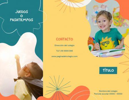 Formato de folletos para niños