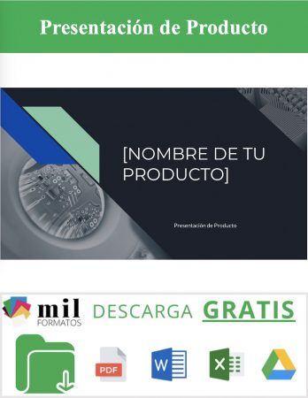 Formato de Presentación de Producto