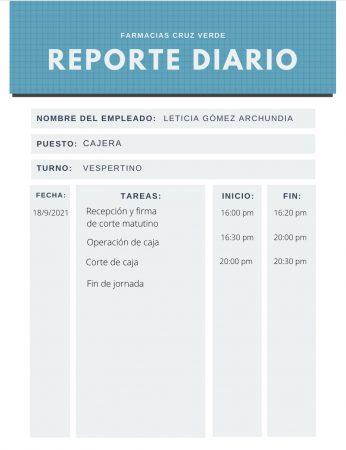 Reporte Escrito