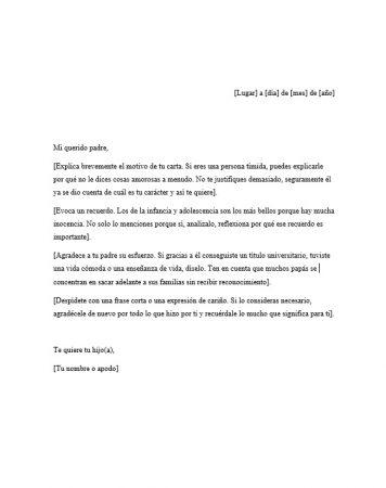 Carta para un Padre