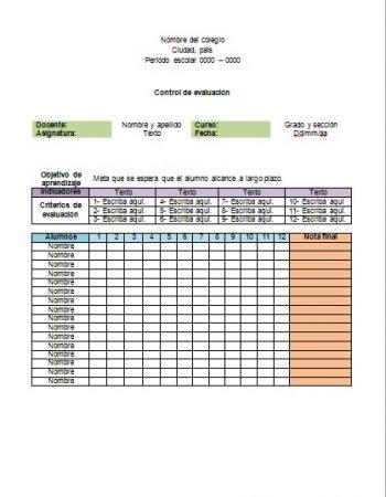 Formato de Evaluación formativa