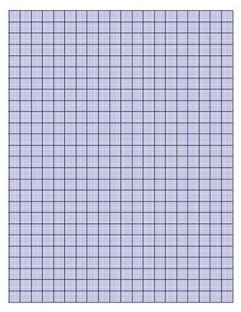 Formato de papel milimetrado en color azul