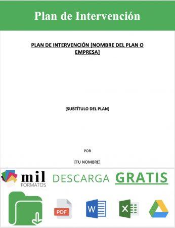 Plan de Intervención
